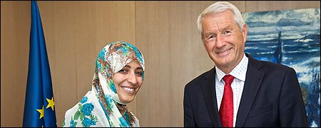 Secretary General meets Nobel Peace Prize laureate Tawakkul Karman