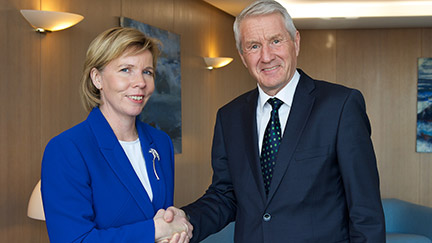 Secretary General meets the Minister of Justice of Finland