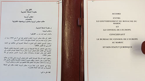 Agreement on a Council of Europe office in Morocco
