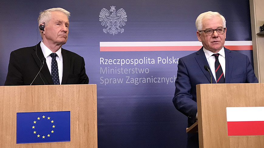 Secretary General Jagland to attend NGO conference in Warsaw, meeting with Polish Foreign Minister Jacek Czaputowicz