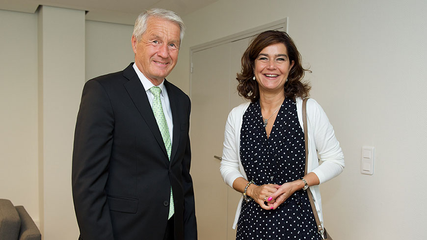 Secretary General meets Speaker of the House of Representatives of the Kingdom of the Netherlands