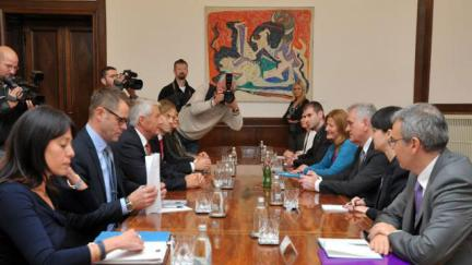 Secretary General Jagland meets with Serbian President Nikolić