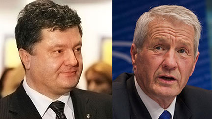 Secretary General and Ukraine's President Poroshenko discuss Council of Europe's role in constitutional reforms