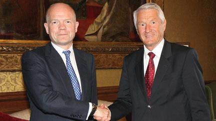 Secretary General Jagland and UK Foreign Secretary Hague discuss Council of Europe actions in Ukraine