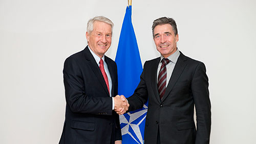 Secretary General Jagland meets NATO Secretary General Anders Fogh Rasmussen