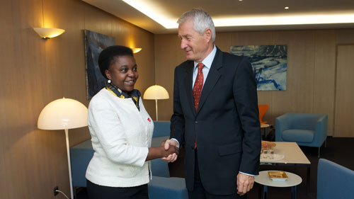 Italian Minister Kyenge visits the Council of Europe