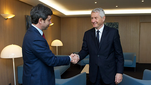 Secretary General meets Italian Minister of Justice Orlando