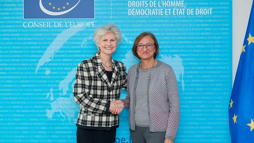 Meeting with Anna Maria Corazza Bildt, European Parliament rapporteur on EU accession to the Istanbul Convention