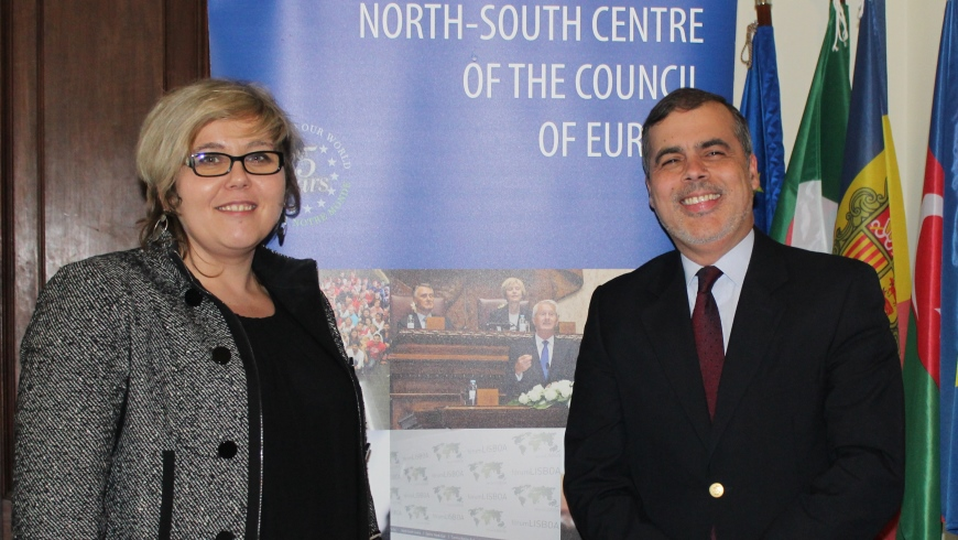 President of the Conference of the INGOs of the Council of Europe visits the North-South Centre