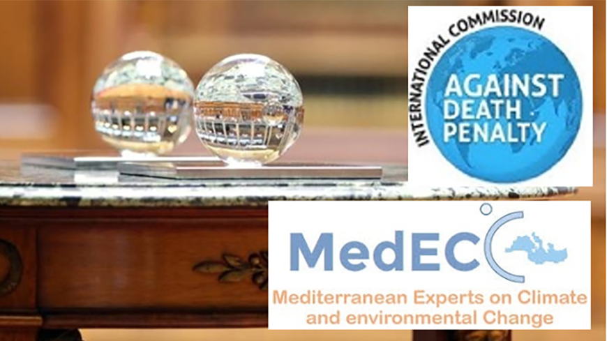 The 2020 Prize is awarded to the International Commission against the Death Penalty and  The Network of Mediterranean Experts on Climate and Environmental Change (MedECC) of the Union for the Mediterranean