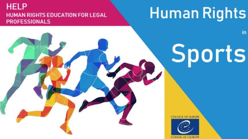 "New Council of Europe HELP course on ""Human Rights in Sports"""