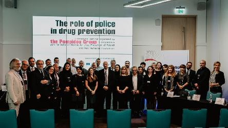 Police officers from 19 countries discuss the role of police in drug prevention