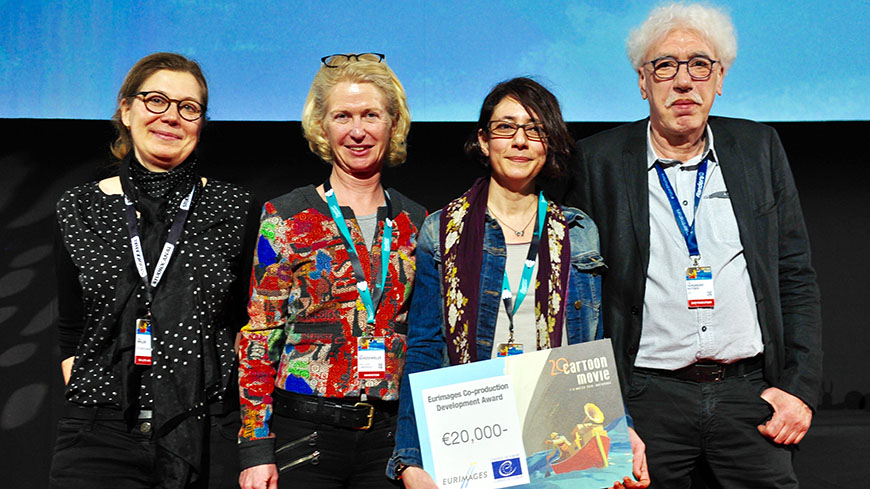 And the winners of the Eurimages Co-production Development Awards are…