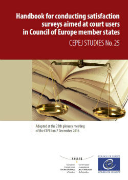 Handbook for conducting satisfaction surveys aimed at Court users in the Council of Europe's member States