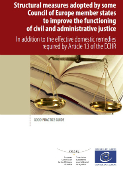 Structural measures adopted by some Council of Europe member states to improve the functioning of civil and administrative justice in addition to the effective domestic remedies required by Article 13 of the ECHR - Good practice guide