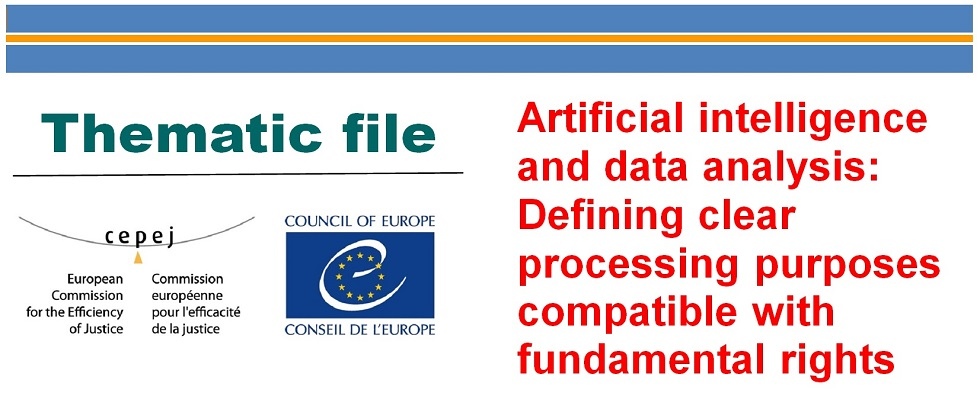 Artificial intelligence and data analysis: Defining clear processing purposes compatible with fundamental rights