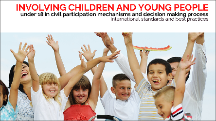 "Join the webinar ""Involving children and young people under 18 in civil participation mechanisms and decision-making"""