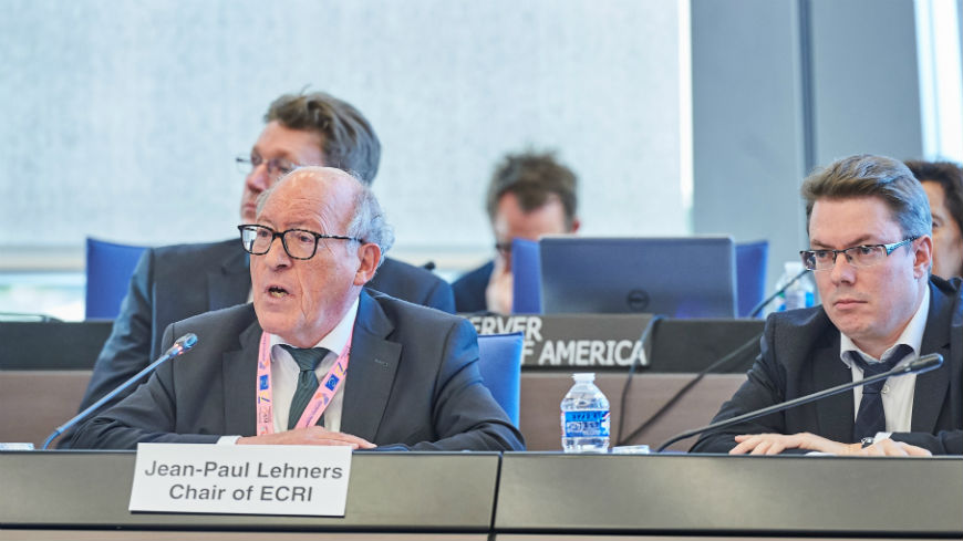 ECRI Chair to the Council of Europe's Committee of Ministers: we must act quickly, firmly and collectively not to lose ground in the fight against racism and intolerance