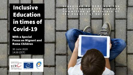 ECRI webinar on Inclusive Education in Times of Covid-19