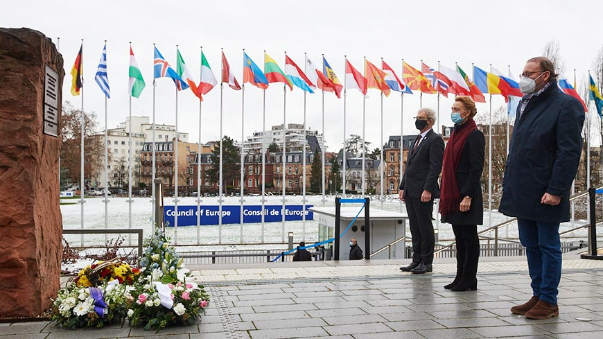 Council of Europe leaders and victims' representatives mark Holocaust Remembrance Day