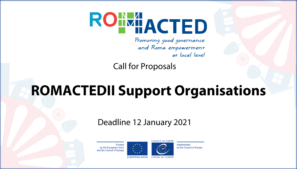 ROMACTEDII Call for Proposals: Support Organisations