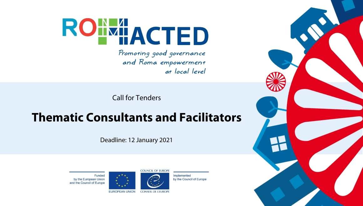 ROMACTED Call for Tenders: Thematic Consultants and Facilitators