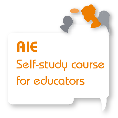 Logo - Council of Europe's online course in the use of the Autobiography of Intercultural Encounters (AIE)