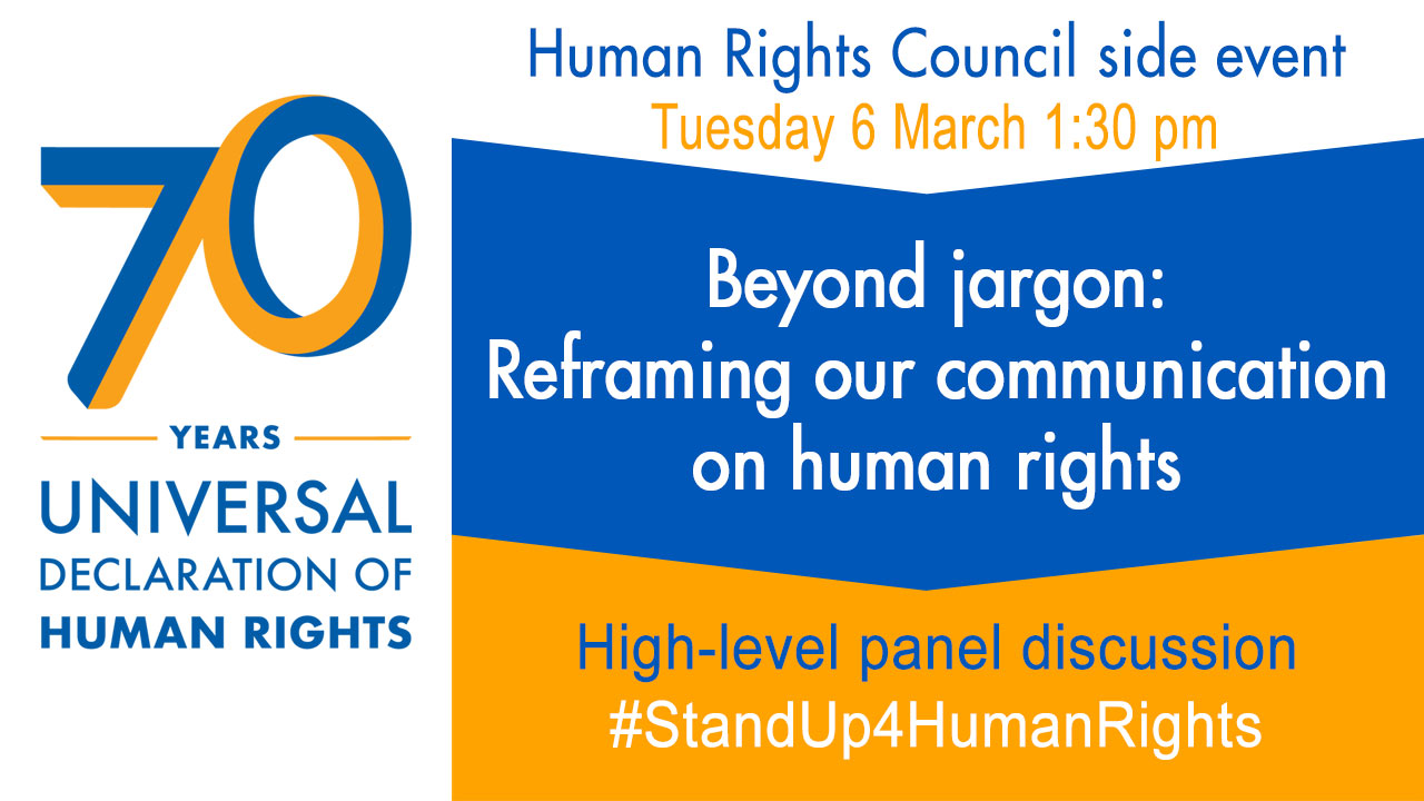 Beyond jargon: Reframing our communication on human rights