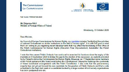 Polish authorities should ensure the continuity, independence and effectiveness of the Ombudsman institution