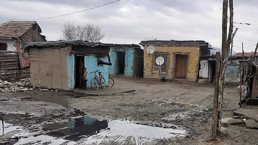 Roma settlement in Bulgaria