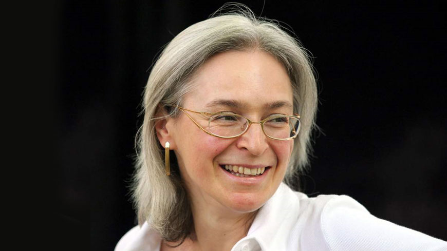 Anna Politkovskaya, murdered on 7 October 2006