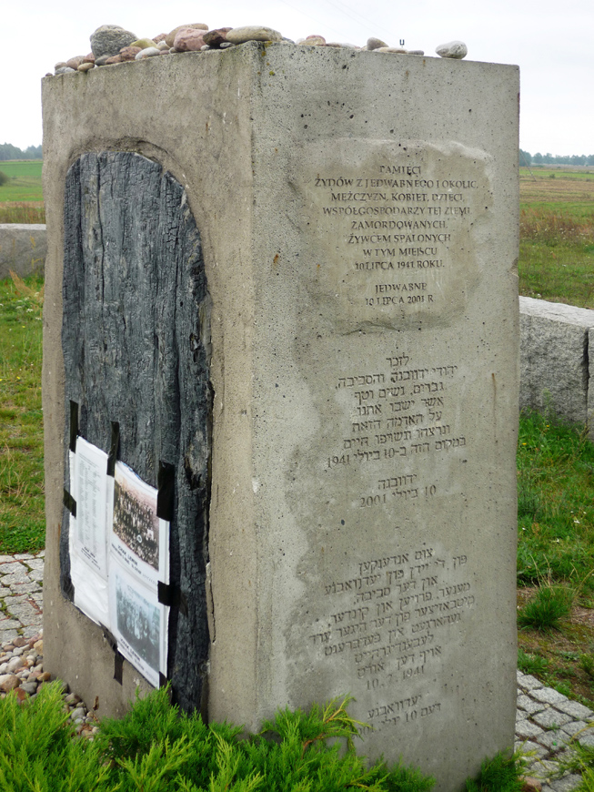 Memorials constitute important safeguards against history and serious human rights violations repeating themselves. The photo above shows one such memorial (monument unveiled by the Polish authorities in 2001 to commemorate the massacre of Jews in Jedwabne in 1941)