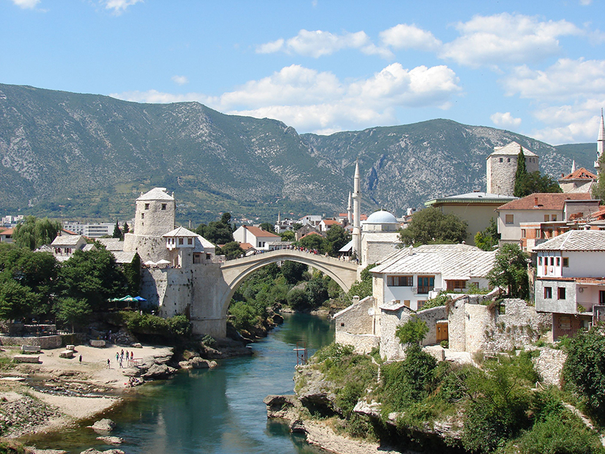 Old Bridge Area of the Old City of Mostar.jpg