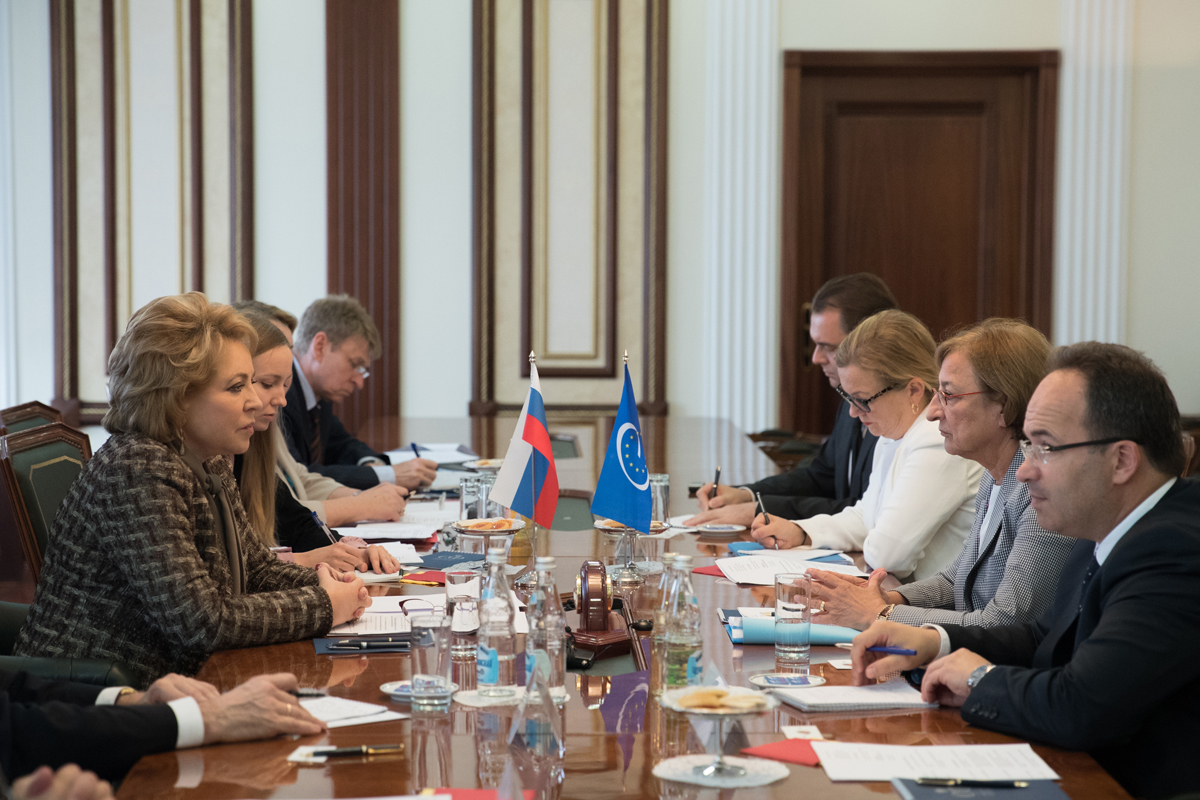 Deputy Secretary General of the Council of Europe G. Battaini-Dragoni visited Russia