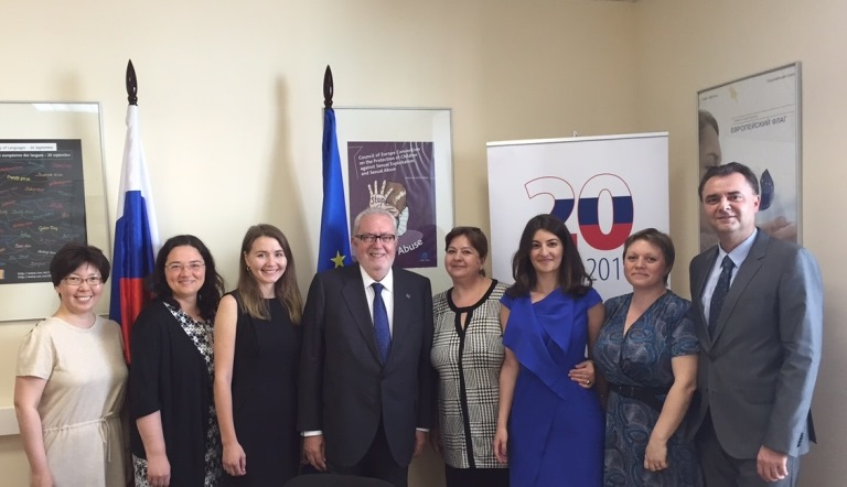 President of the Parliamentary Assembly of the Council of Europe, Mr. Pedro Agramunt, visits the Council of Europe Programme Office in the Russian Federation