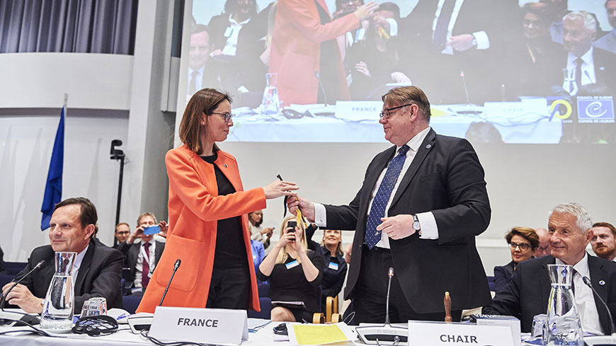 France takes over the Presidency of the Committee of Ministers