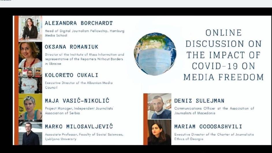 Online discussion on the impact of COVID-19 on media freedom now available in Georgian