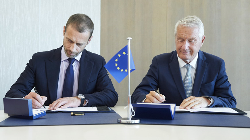 Council of Europe and UEFA sign Memorandum of Understanding