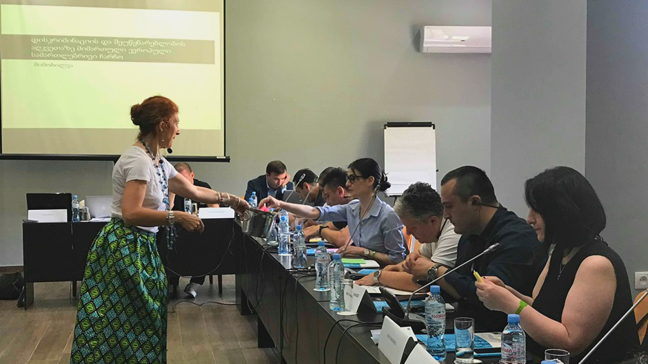 Continuing the series of trainings on fighting discrimination and hate crimes in Georgia