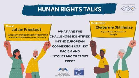 The European Commission against Racism and Intolerance   Executive Secretary, Johan Friestedt will talk about the challenges identified in the ECRI annual report 2020