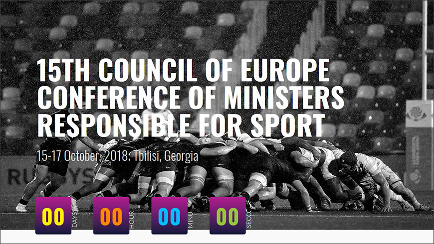 Protecting Human Rights and Fighting Corruption at Council of Europe Sport Ministers' Conference in Tbilisi