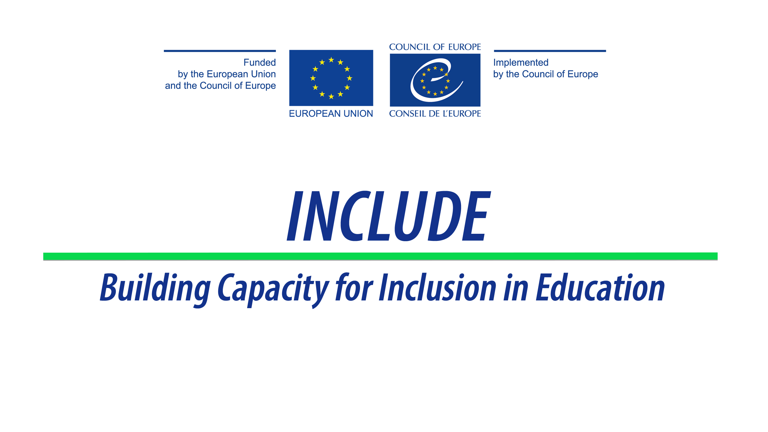 INCLUDE - Building Capacity for Inclusion in Education