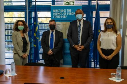 Head of the Council of Europe Office in Pristina meets with the Deputy Minister of Justice and National Coordinator on Domestic Violence in Kosovo*