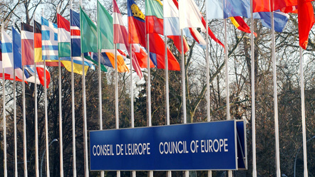 The 47 flags of the Council of Europe