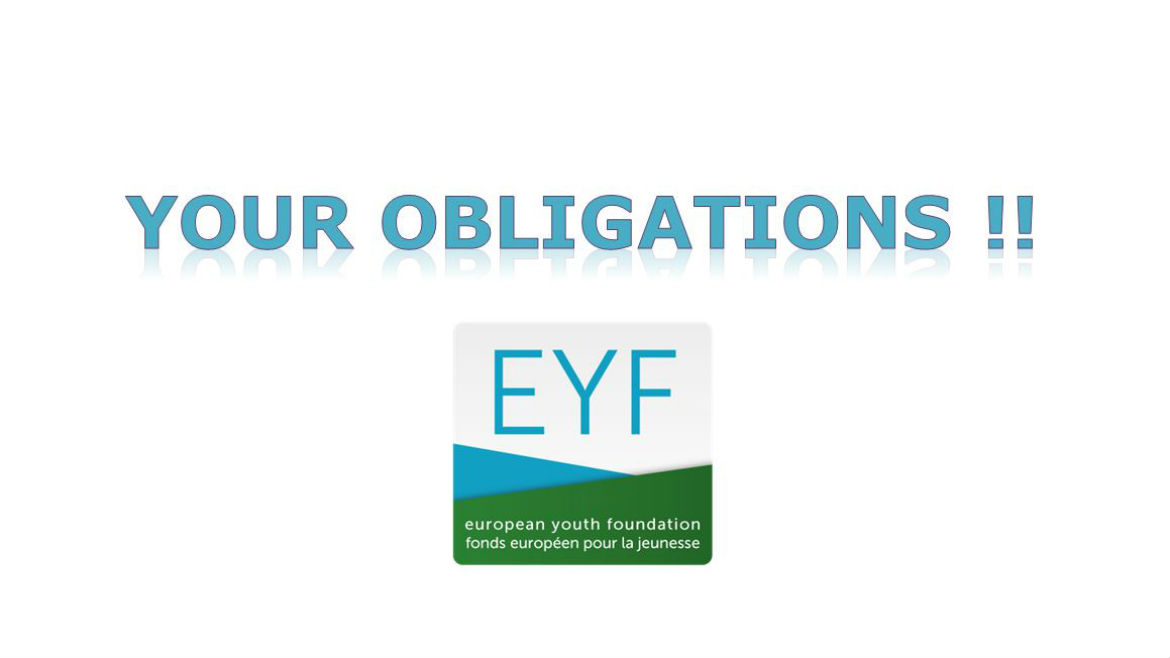 Obligations linked to EYF-supported activities