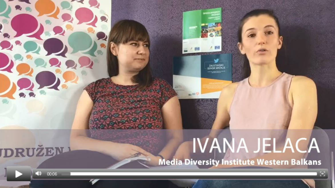 Interview about the No Hate Speech campaign in Serbia