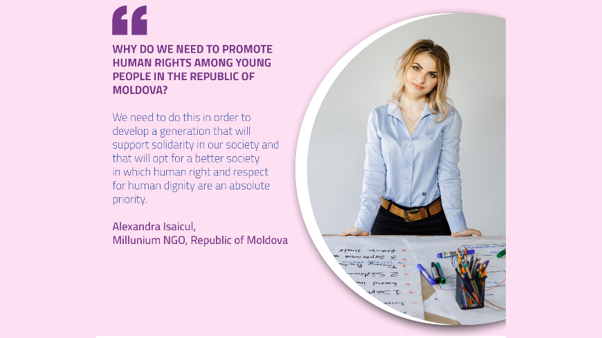 Raising awareness of young people in relation to discrimination and hate speech in the Republic of Moldova
