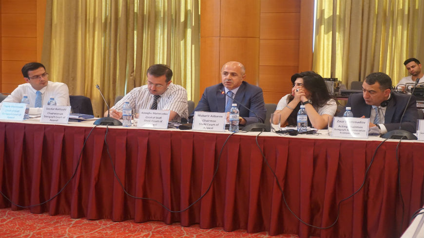 Working group meeting on implementation of time management tools in the pilot courts of Azerbaijan