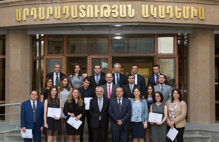 Certificates Awarded to Trainers of the Justice Academy