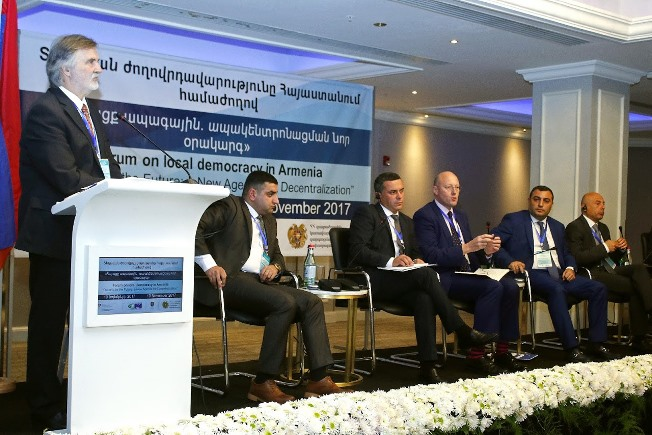"""Outlook for the Future: a new Agenda for Decentralisation"" forum on local democracy in Armenia"